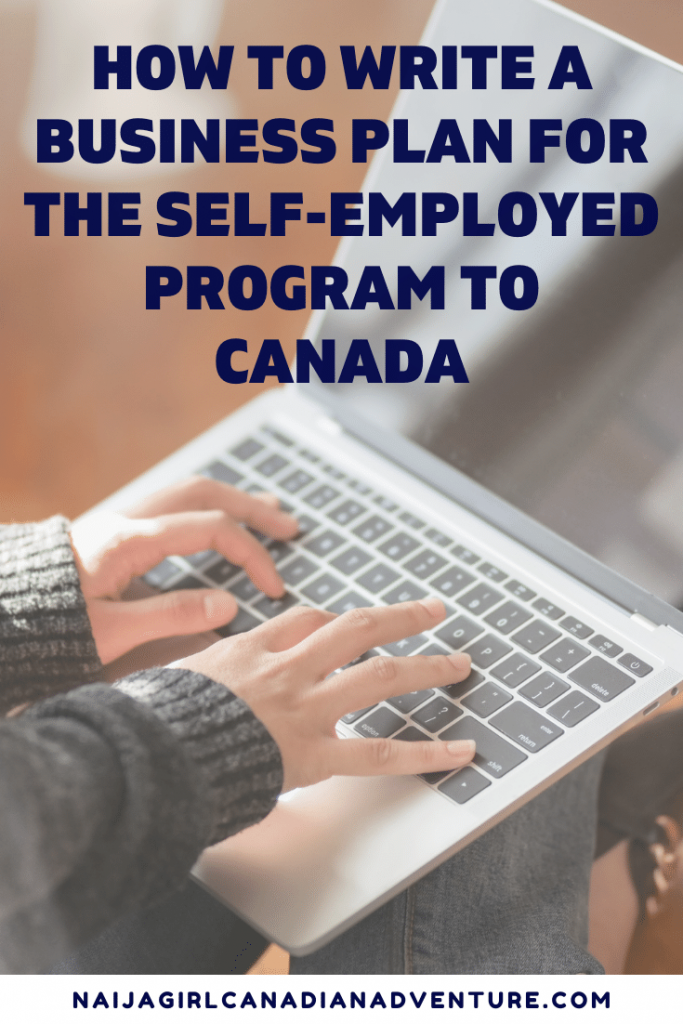 How to write a business plan for the Canadian federal self employed program