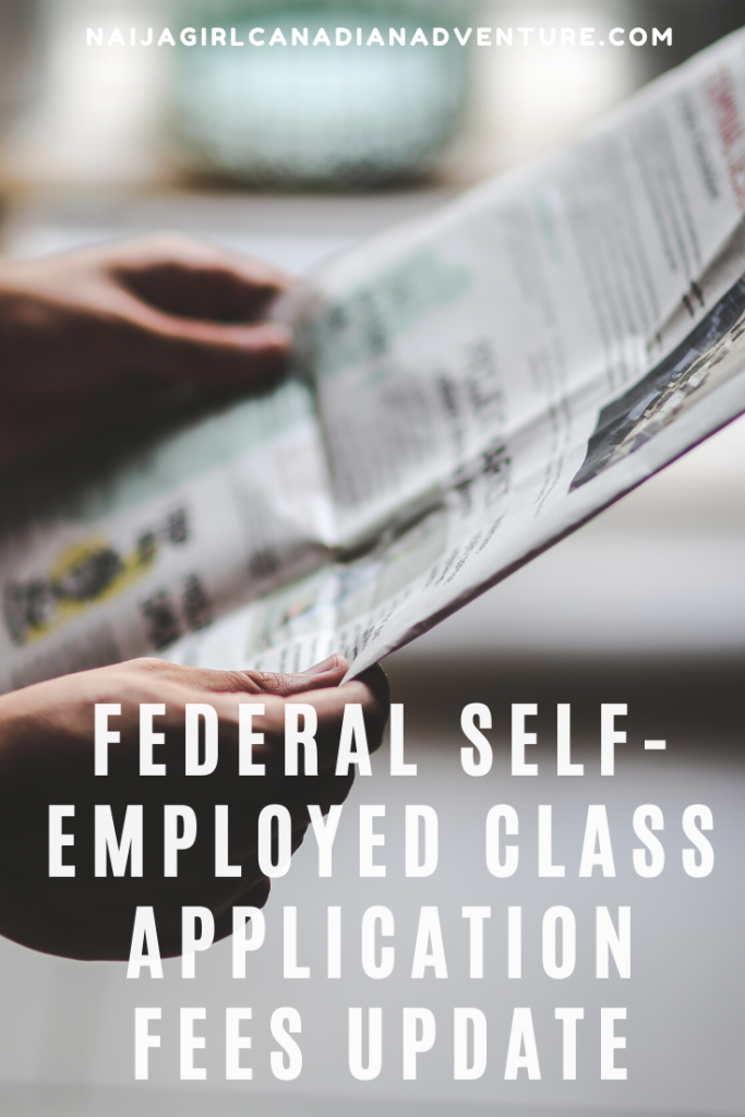 Federal Self Employed category application fees update