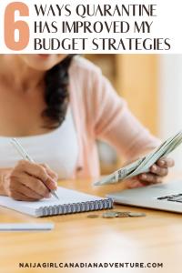 6 Ways Quarantine Has Improved My Budgeting Strategies
