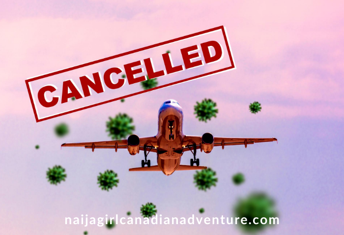 travel cancelled because of coronavirus