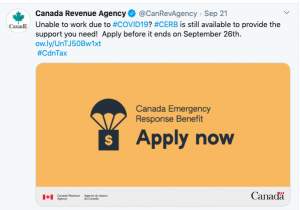 CERB closes Sept 26