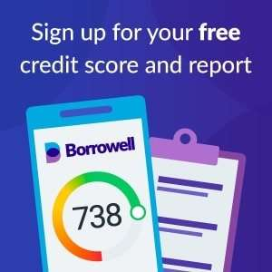 Sign up for your free credit score and report with Borrowell